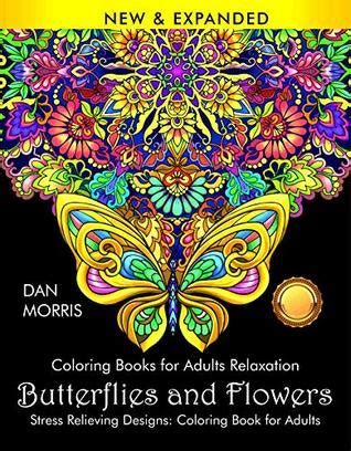 coloring books  adults relaxation butterflies