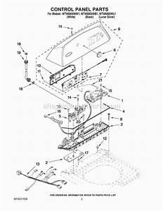 Whirlpool Cabrio Washer Parts Schematic