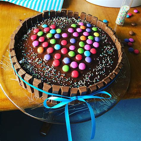 rezepte mit kinderriegel cake ein amerikanischer kuchen mit s 252 223 igkeiten tinacandycake chefkoch de