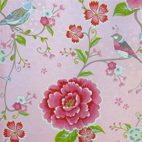 pip studio behang birds paradise roze behangnr