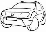 Duster Vector Clipart Vehicle Automobile Getdrawings Svg Pixabay sketch template