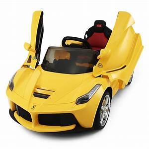 Auto Achterbahn Für Kinder : 12v ferrari laferrari gelb kinder elektro auto ~ Jslefanu.com Haus und Dekorationen