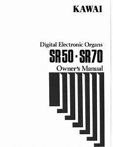 Digital Electronic Organs Sr70 Manuals
