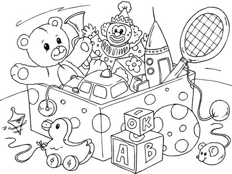 Coloring Toys toys coloring pages to and print for free