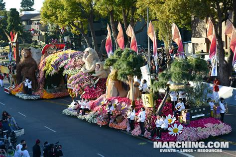 pasadena tournament  roses parade  floats