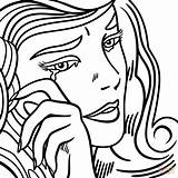 Coloring Crying Roy Lichtenstein Pop Drawing Depressed Printable Sheets Sad Anime Adult Colouring Retro Supercoloring Tart Getcolorings Colorings Super Line sketch template