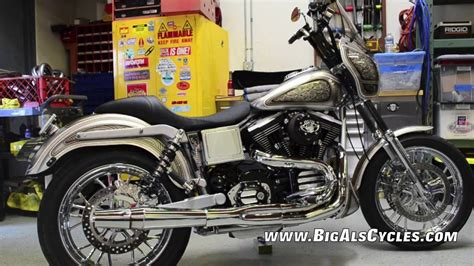 big als cycles silver legacy fxdx  dyna youtube