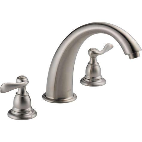 bathtub faucet kit delta windemere 2 handle deck mount tub faucet trim