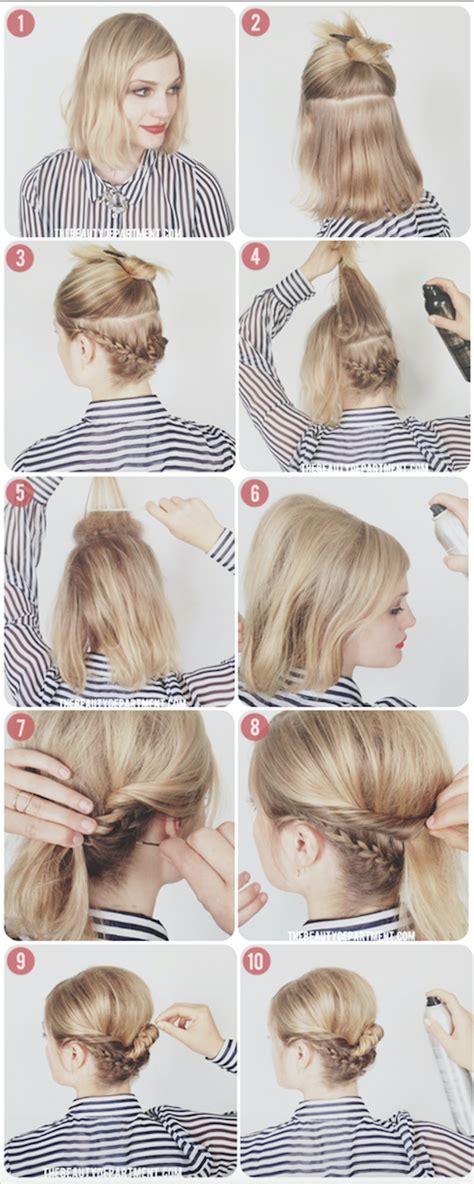 tutos de coiffures tressees pour les cheveux courts