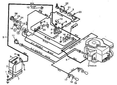 yt 4500 craftsman tractor wiring diagram tractor diagram