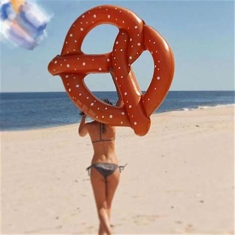 giant inflatable pretzel   good vibes piscine