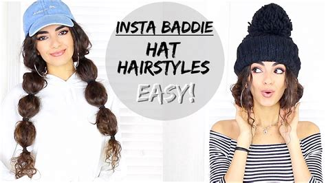 easy hairstyles with hats beanies youtube