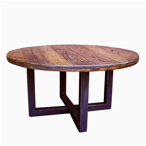 round coffee table base buy a custom made reclaimed wood wormy chestnut round