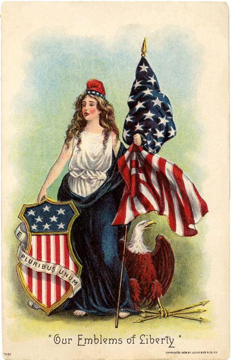vintage lady liberty clip art  graphics fairy