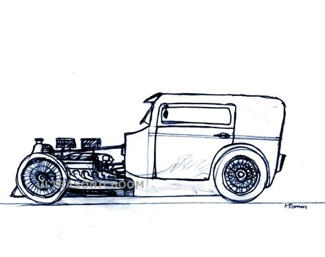 drawn car hot rod pencil   color drawn car hot rod