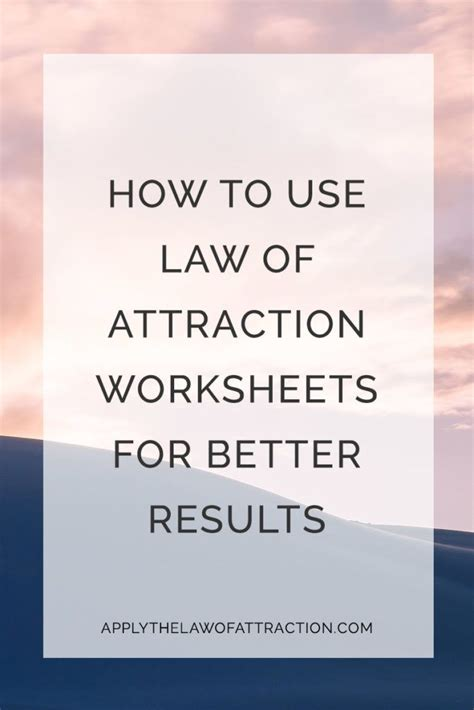 free of attraction pdf worksheets print