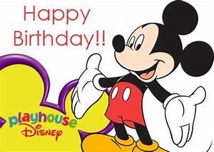 Happy Birthday Mickey Mouse : cre tive di ney f n happy birthday mickey mouse ~ Buech-reservation.com Haus und Dekorationen