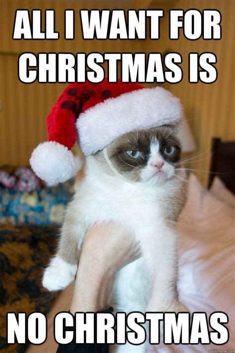 All I Want For Christmas Meme - all i want for christmas is no christmas grumpy xmas quickmeme