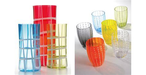 bicchieri vetro colorati vetro di design zafferano italybylove