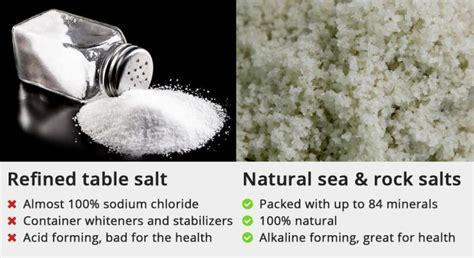 mineral salt vs table salt healthy alternative salts to sodium natural packed