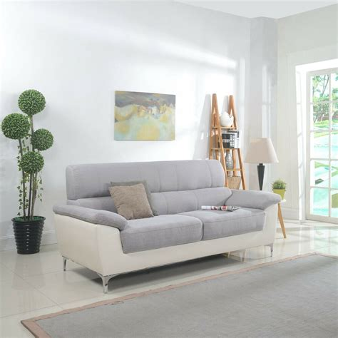 living room sofas and loveseats modern two tone fabric and bonded leather living room sofa