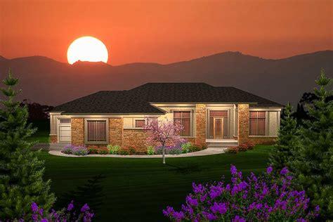 bedroom prairie ranch house plan ah architectural designs house plans