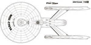 dorsal schematic of u s s enterprise ncc 1701 a star