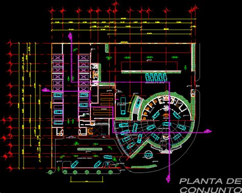 car dealership showroom shop parts nissan dwg plan
