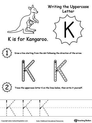 letter k worksheets tracing and writing the letter k myteachingstation 9509