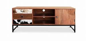 Meuble Tv Manguier : meuble tv bois de manguier montana pas cher ~ Teatrodelosmanantiales.com Idées de Décoration