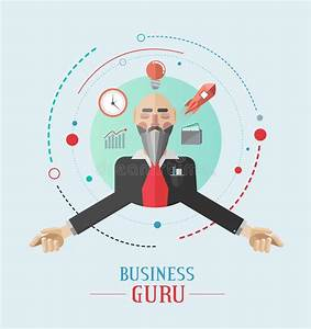 Business Guru Vector With Icons Stock Vector - Image: 44307026