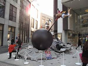 Life-Size Goku & Luffy statues duke it out with overturned