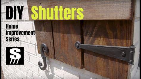 diy shutters home improvement woodworking