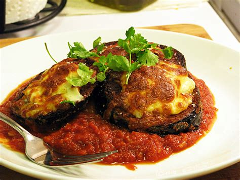 eggplant recipes eggplant parmesan recipe dishmaps