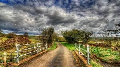 1080p Wallpapers Desktop Bridge Countryside Road Hdr