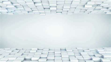 White boxes abstract background 3D render loopable