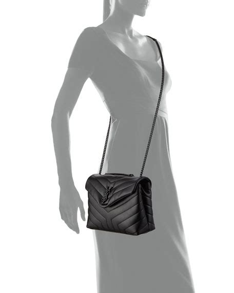 saint laurent monogram ysl loulou small chain shoulder bag