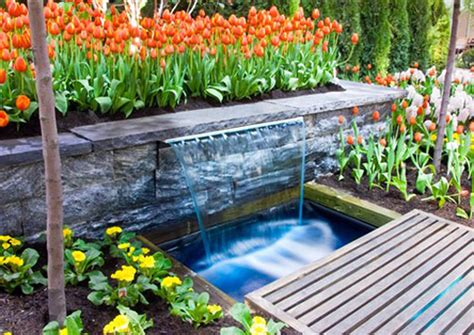 waterfalls in home garden design with backyard waterfalls outdoor furniture also waterfall in home inspirations