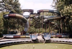 Abandoned Amusement Park Water Ride