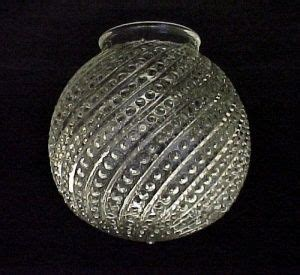 bead swirl clear glass     ball globe light shade