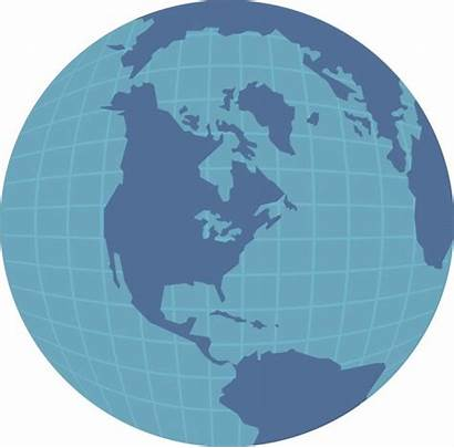 Globe America North Clipart Domain Map Showing