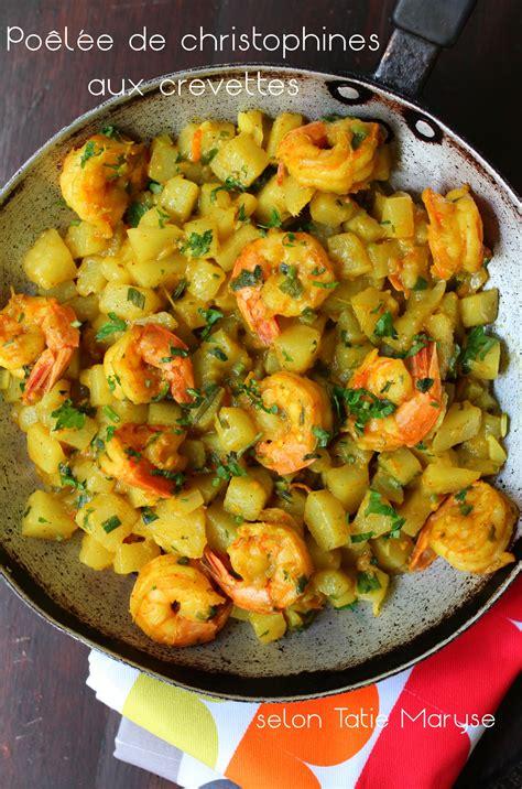 cuisiner la christophine la poêlée de christophines aux crevettes pour vous régaler