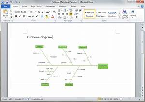 Fishbone Diagram Templates For Word
