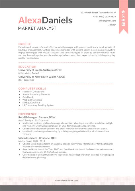 best sle professional resume template for word by