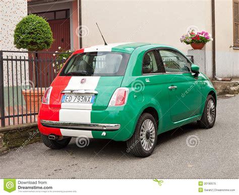Is Fiat Italian by Fiat Maggiore In Italian Flag Colours Editorial Image