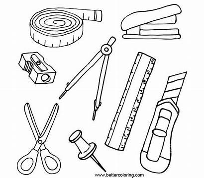 Coloring Supplies Stationery Printable Adults