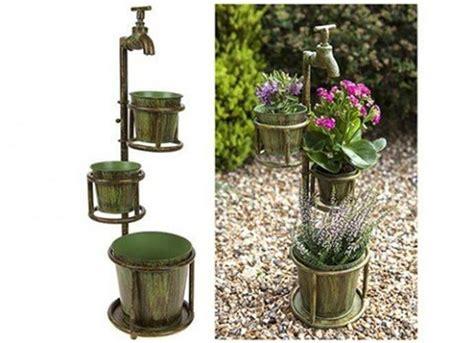 Vintage Verdigris Rustic Metal Garden Planter Flower Pots