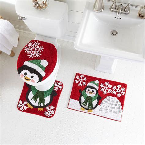 pc holiday bath rug set christmas brylane home