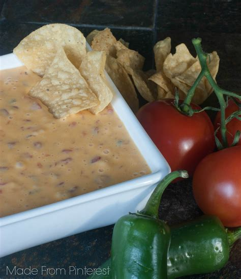 how to make rotel dip rotel and velveeta queso dip made from pinterest