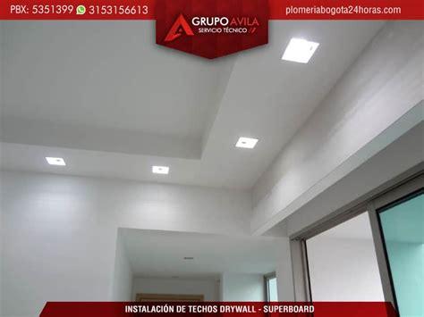 instalacion de techo drywall bogota techos  superboard